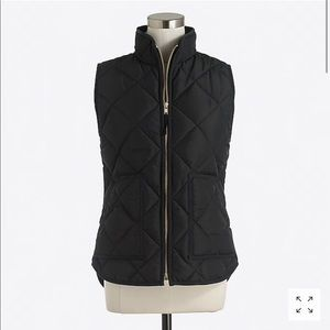 J. Crew Quilted Puffer Vest - Black